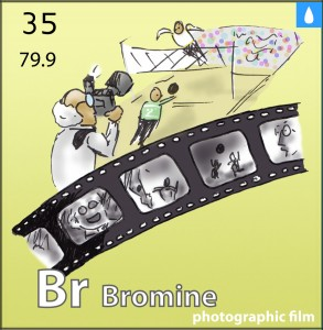 Picture of bromine element
